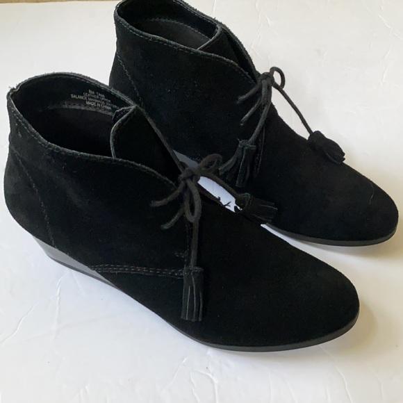 Crown Vintage | Black Suede Tassel Tami Ankle Boot